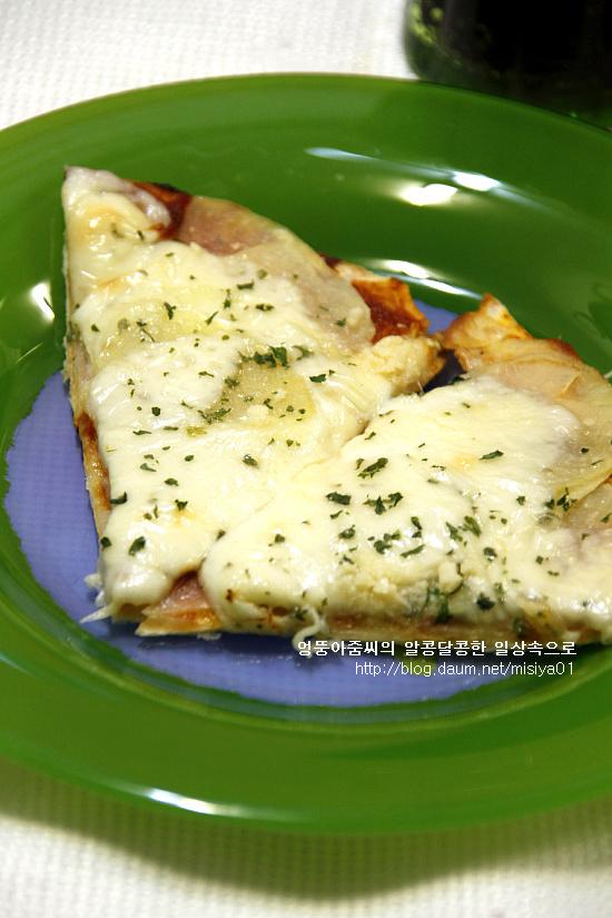 담백한 맛~ 또띠아 감자 피자...