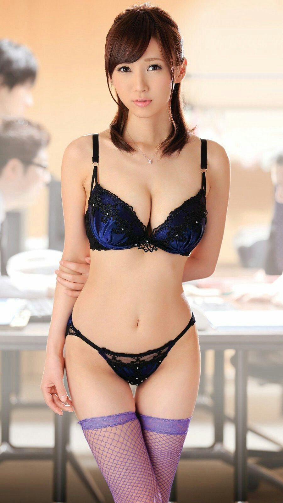 pure Japanese girl in sexy lingerie