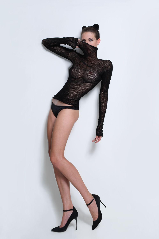 hot girl in mesh wearing
