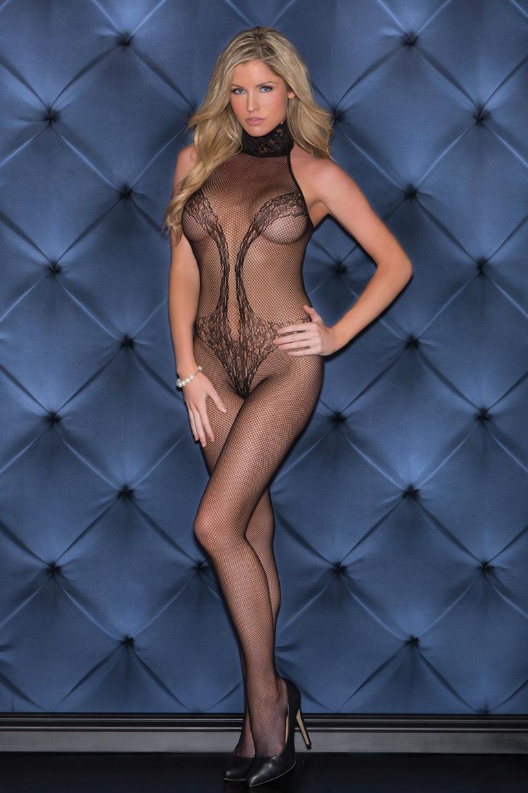 hot mesh lingerie girl